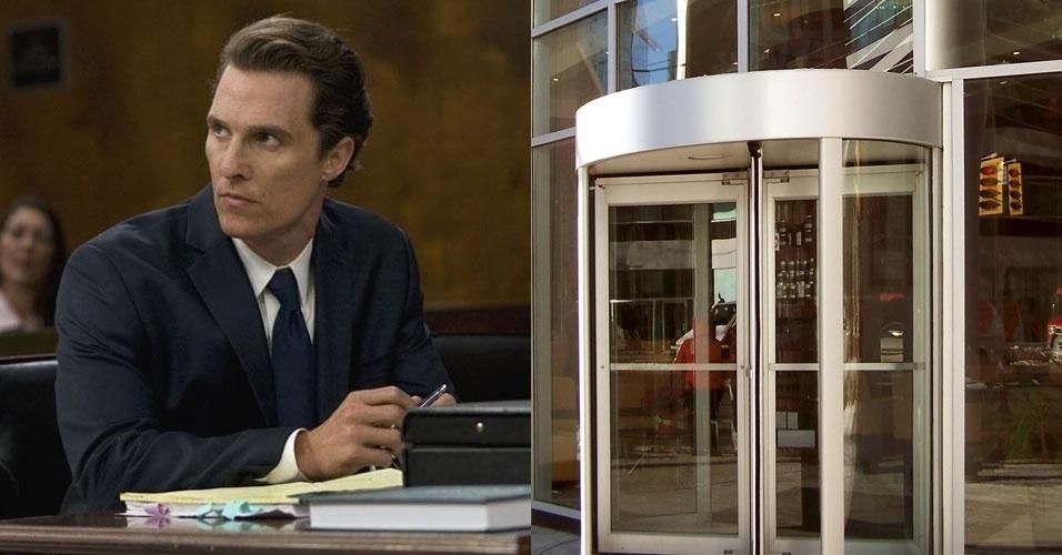 Matthew McConaughey, um dos atores mais bem-sucedidos de Hollywood, faz todo tipo de papel. Só não peça para ele passar por uma porta giratória