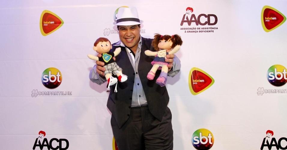 26.out.2013 - Tiago Abravanel participou do Teleton 2013. A campanha atingiu a meta e conseguiu arrecadar R$ 26 milhões para a AACD