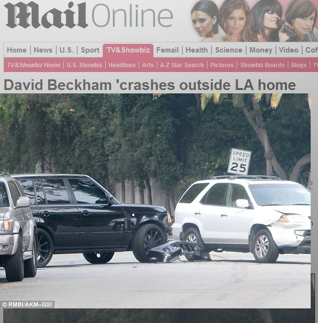 David Beckham bate de carro