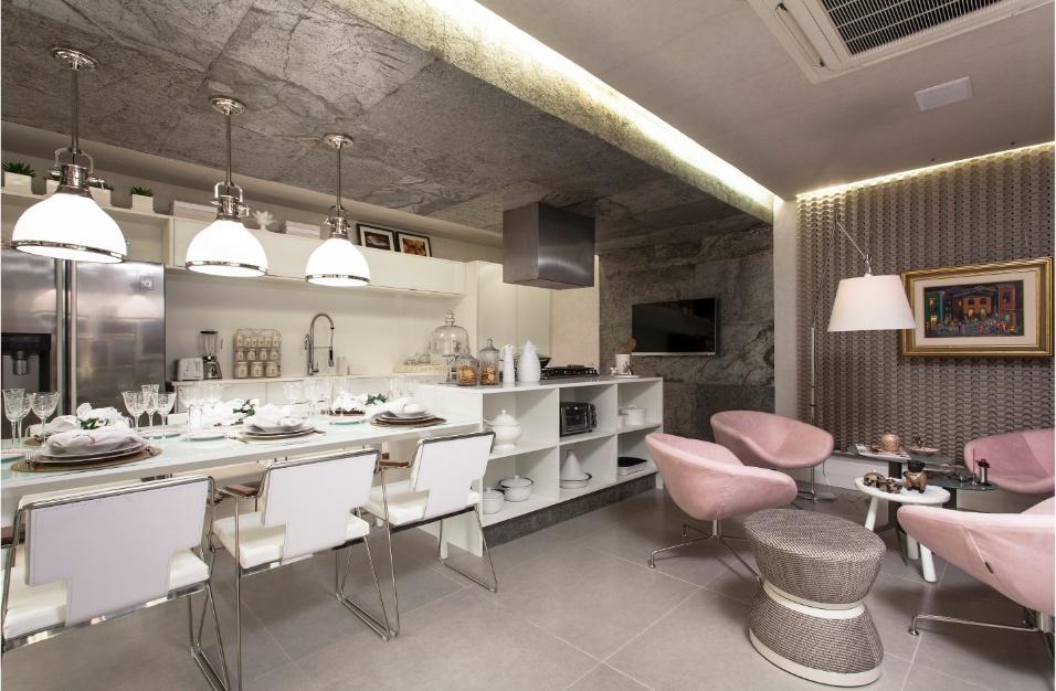 decoracao cozinha e copa : decoracao cozinha e copa:Copa-Cozinha, assinada por Adelia Estevez, tem decoração com base