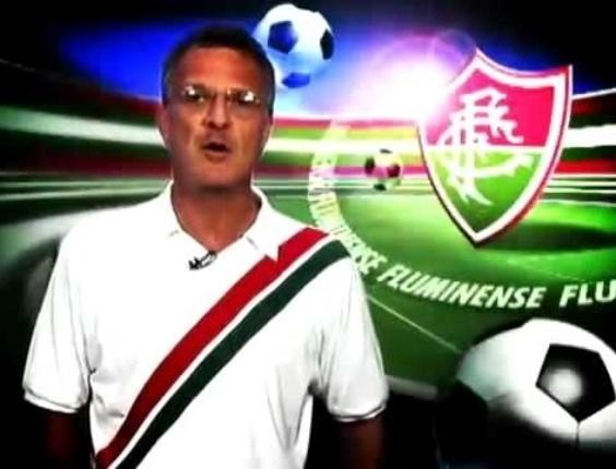 O Fluminense é o time de coração do jornalista e apresentador Pedro Bial