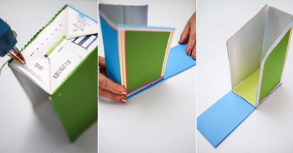Aparador De Ferro Para Sala ~ Veja como fazer um aparador para os livros infantis com embalagem de leite Gravidez e Filhos