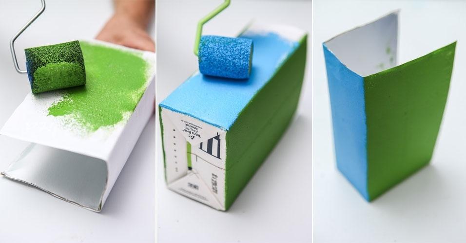 Adesivo Va De Bike ~ Fotos Veja como fazer um aparador para os livros infantis com embalagem de leite 06 11 2013