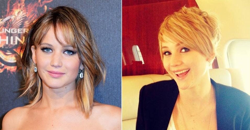 Jennifer Lawrence posta foto com novo corte de cabelo e gera suspeita sobre peruca