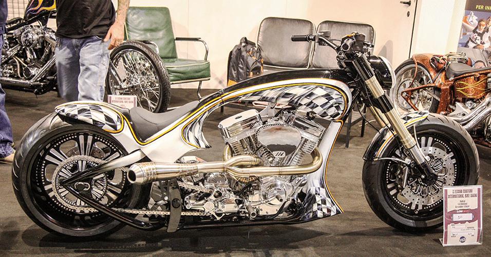moto customizada Salão de Milão