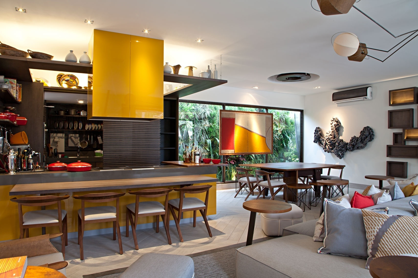 Cozinha Decorada Com Ilha Na Cor Branca Pictures to pin on Pinterest #C59606 1710 1140