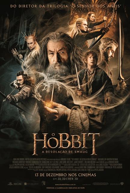 """Novo pôster de """"O Hobbit: A Desolação de Smaug"""" divulgado no Facebook pelo diretor Peter Jackson"""