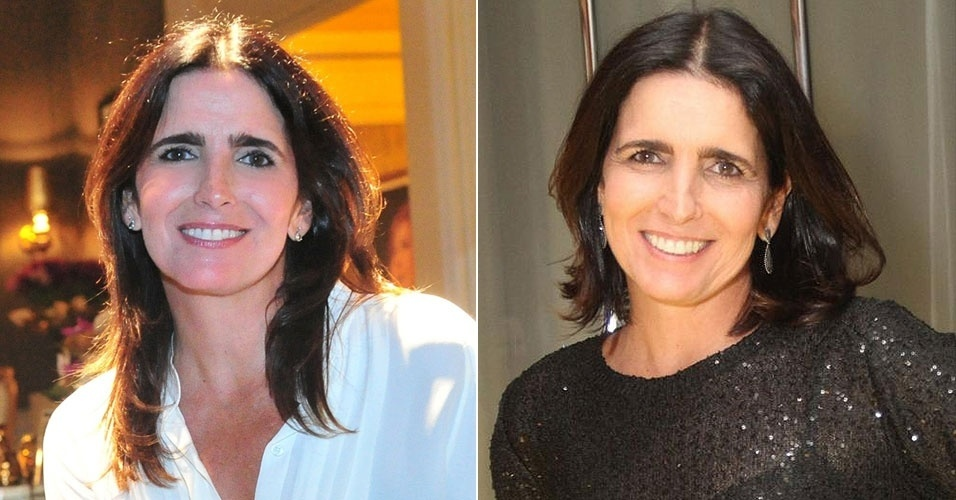 Novembro: Depois de anos exibindo suas longas madeixas escuras na TV, a Malu Mader apareceu com um novo corte, um chanel médio com as pontas desfiadas. O novo penteado trouxe leveza ao visual da atriz