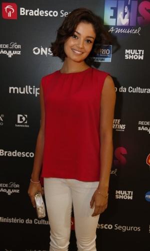 """14.nov.2013 - Sophie Charlotte prestigiou a exibição do musical """"Elis, A Musical"""", no Rio"""