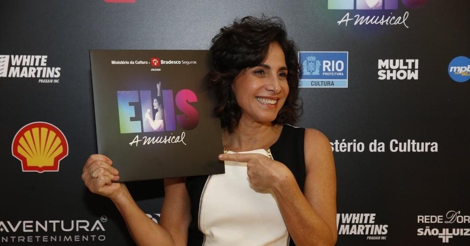 """14.nov.2013 - Totia Meirelles prestigiou a exibição do musical """"Elis, A Musical"""", no Rio"""