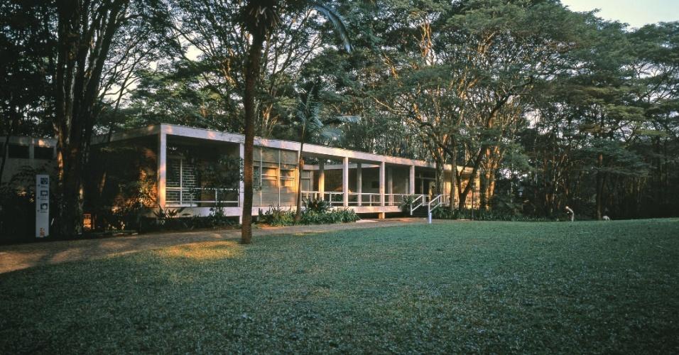 Fachada da Fundação Maria Luisa e Oscar Americano, no Morumbi, em São Paulo