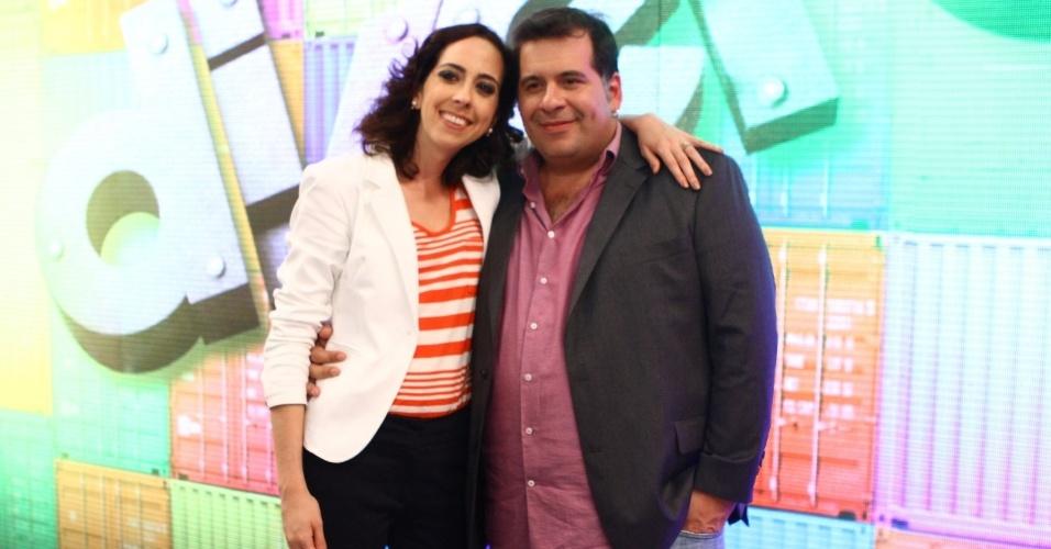 """21.nov.2013- Marianna Armelini e Leandro Hassum também estão no elenco de """"Divertics"""""""