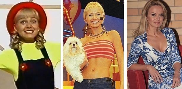 A apresentadora Eliana em diversos momentos da carreira