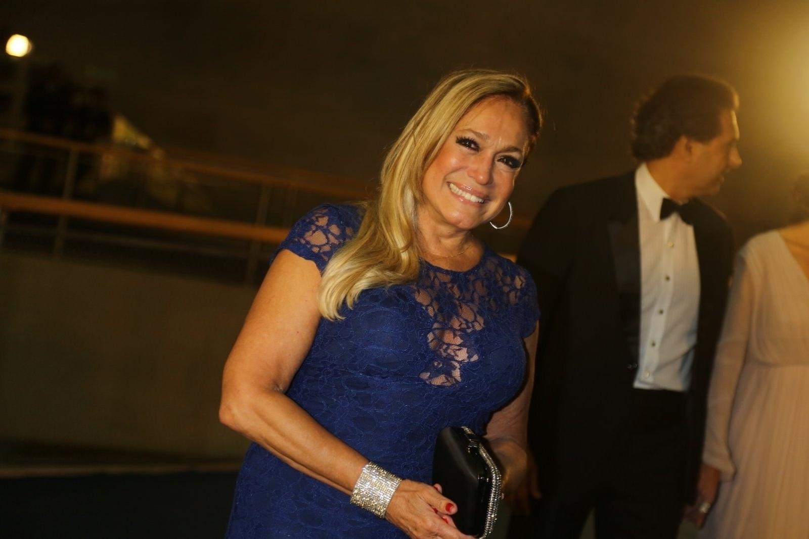 23.nov.2013 - Susana Vieira na gravação do especial de fim de ano de Roberto Carlos, no Rio de Janeiro