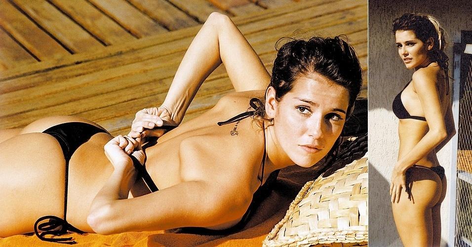 """6.dez.2004 - Deborah Secco em cena do filme """"Meu Tio Matou um Cara"""", onde atuou ao lado de Lázaro Ramos"""