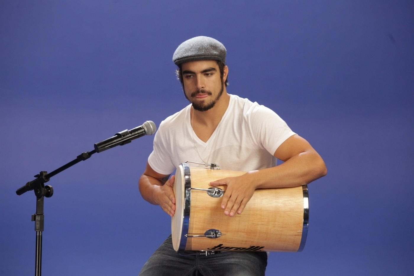 27.nov.2013 - Caio Castro participou da gravação do clipe de