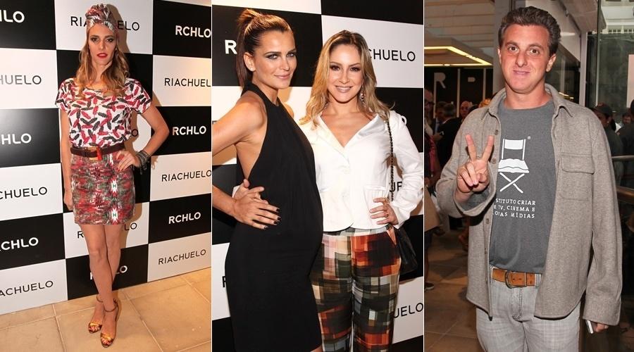 27.nov.2013  - Fernanda Lima prestigiou a inauguração da loja de uma marca de roupas em São Paulo