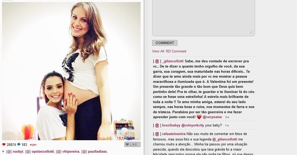 Giovanna Lancellotti posa ao lado de Naise, affair de Caio Castro que deu à luz Valentina