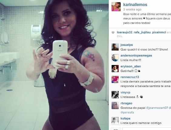 Nas redes sociais, as fotos da morena fazem sucesso entre os homens