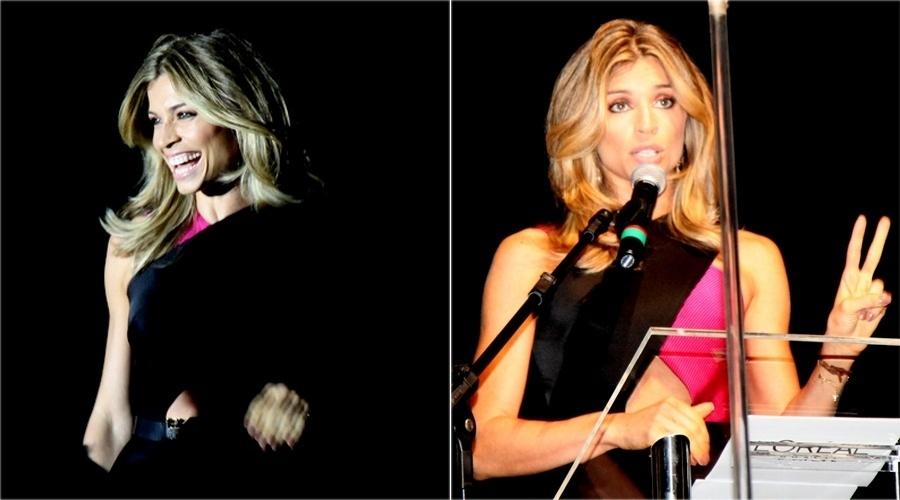 5.dez.2013- Grazi Massafera apresenta prêmio para profissionais de beleza no Rio de Janeiro