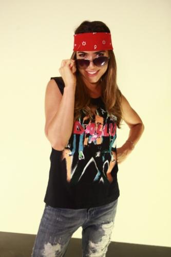Além de Lady Gaga, a apresentadora Patrícia Abravanel gravou o especial de fim de ano do SBT caracterizada de roqueira
