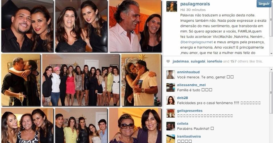 Após noivado, Paula Morais se declara para Ronaldo