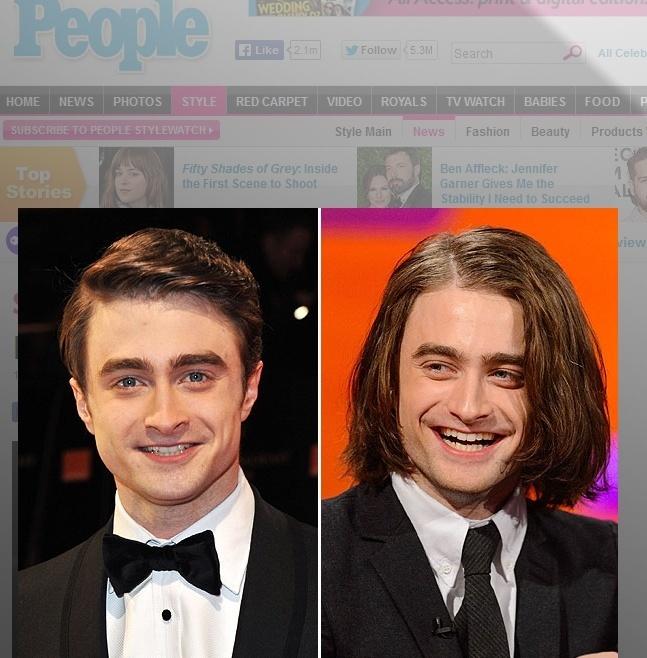 Daniel Radcliffe colocou megahair para seu novo papel no filme