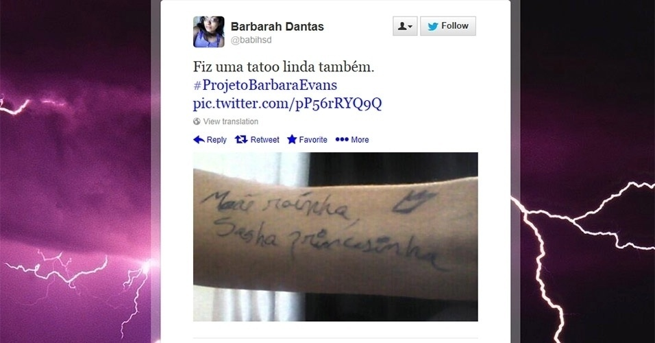 A internauta Barbarah Dantas