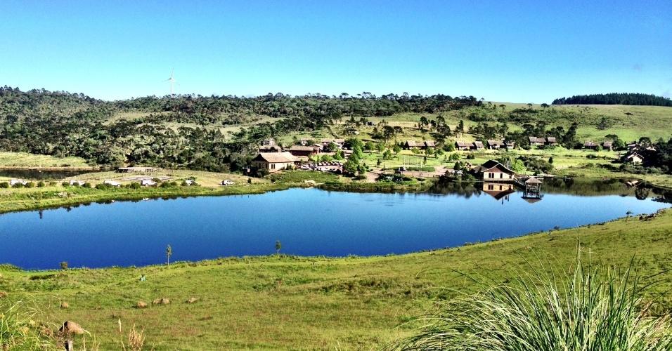 Paisagem rural vista perto da cidade de Bom Jardim da Serra, em Santa Catarina