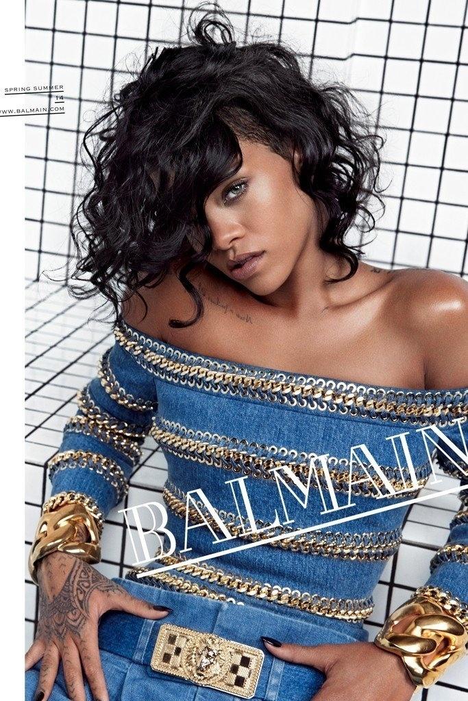 Rihanna na campanha Verão 2014 da Balmain