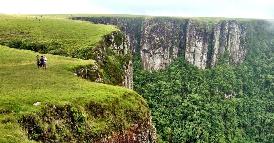 Vista do Cânion do Monte Negro, em São José dos Ausentes. O pico do local é o ponto mais alto do Rio Grande do Sul, com 1.403 metros