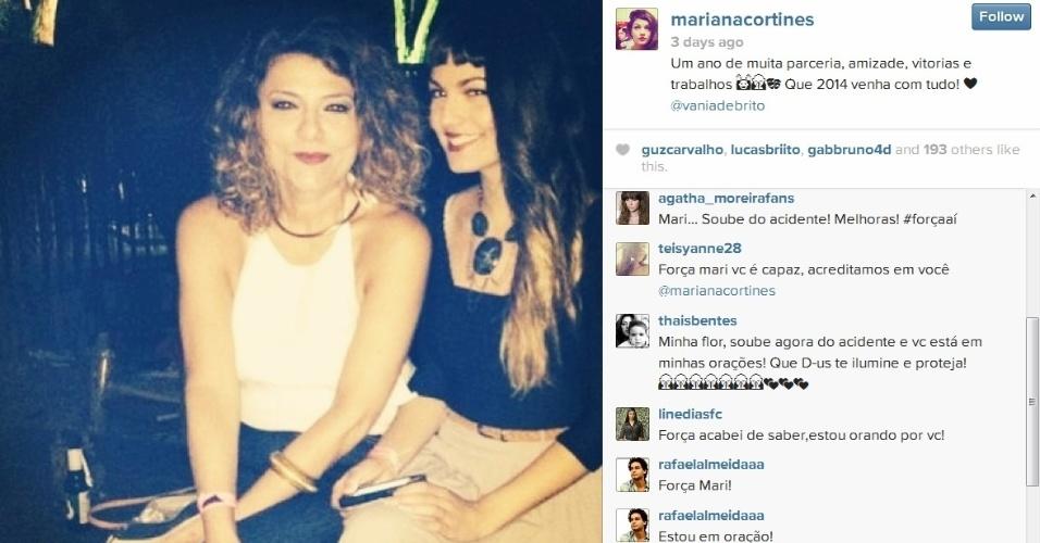 18.dez.2013- Na última foto publicada no Instagram da atriz antes do acidente, vários amigos comentaram desejando que ela melhore logo