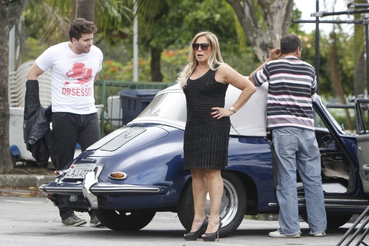 19.dez.2013 - Susana Vieira e Thiago Fragoso, a Pilar e o Niko de