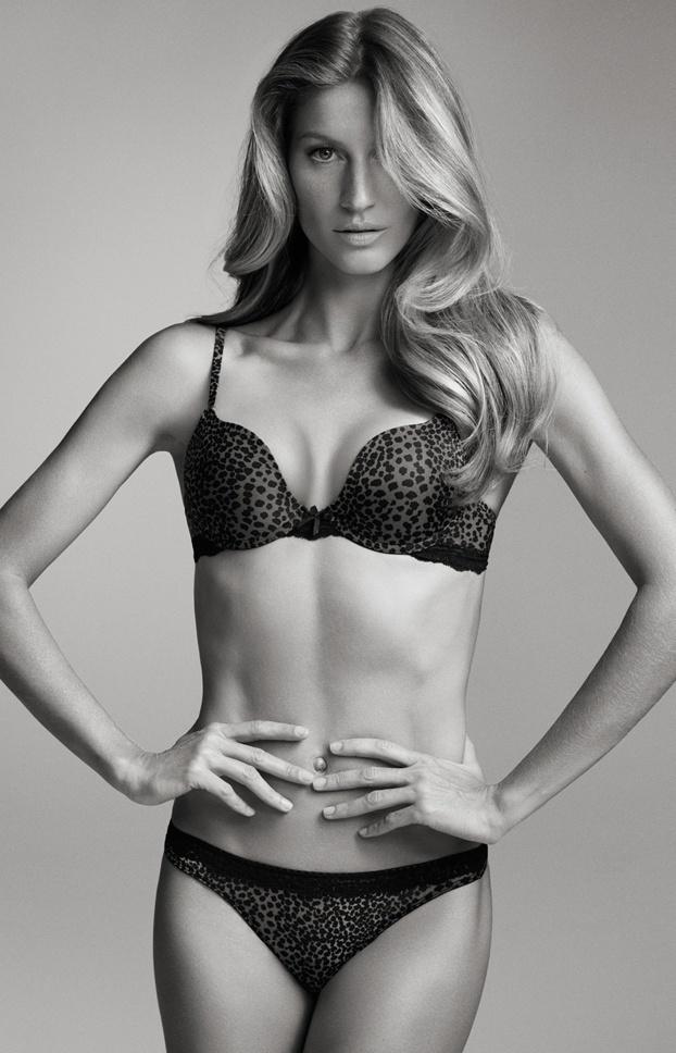 Gisele Bündchen posa de lingerie para sua linha de roupas íntimas, a Gisele Bündchen Intimates