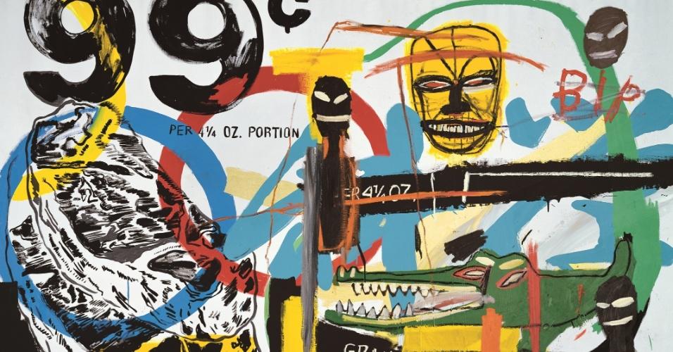 """Obra de Basquiat, presente na exposição """"Visões da Coleção Ludwig"""", em cartaz de 25 de janeiro a 7 de abril no CCBB SP"""