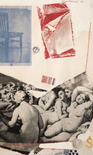 """Obra de Rauschenberg, presente na exposição """"Visões da Coleção Ludwig"""", em cartaz de 25 de janeiro a 7 de abril no CCBB SP"""
