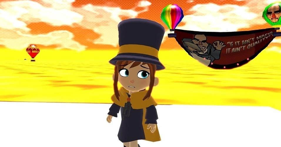 """""""A Hat in Time"""" (Windows, Mac, a confirmar para Wii U) é um jogo de plataforma inspirado nos clássicos do Nintendo 64 como """"Banjo K"""