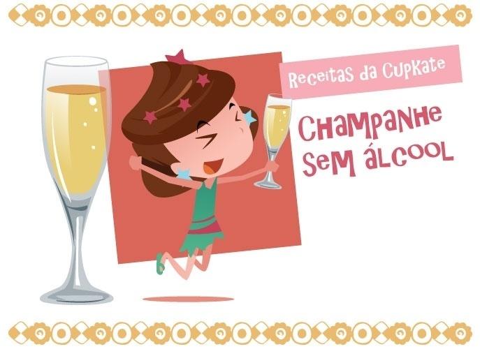 Aprenda a fazer champanhe sem �lcool para crian�as brindarem