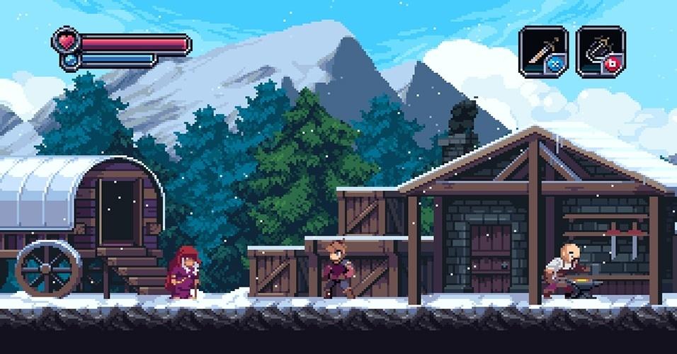 """""""Chasm"""" (Windows, Mac, Linux) é um RPG de ação e plataforma em 2D com dungeons criados proceduralmente - ou seja, nunca são os mesmos"""