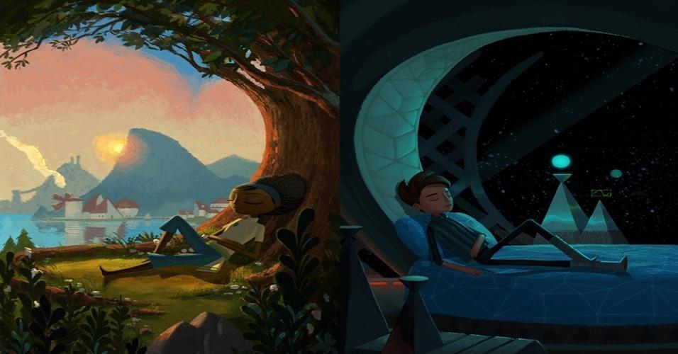 """Do criador de """"Psychonauts"""", o adventure Broken Age (Windows, Mac, Linux, Android, iOS, Ouya) é o primeiro grande projeto financiado por Kickstarter, sendo dividido em duas partes"""