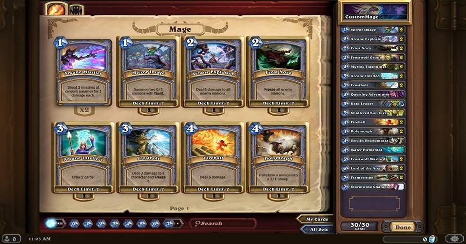 """""""Hearthstone: Heroes of Warcraft"""" (Windows, Mac, iOS, Android) é um card game gratuito já em beta fechado, com mais de 300 cartas disponíveis"""
