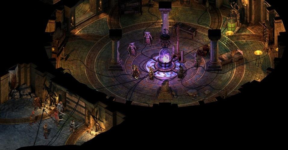 """""""Pillars of Eternity"""" (Windows, Mac, Linux), recordista do Kickstarter, promete ser um jogo nos moldes de """"Baldur's Gate"""" e """"Icewind Dale"""", sendo desenvolvido por alguns dos maiores nomes do gênero"""