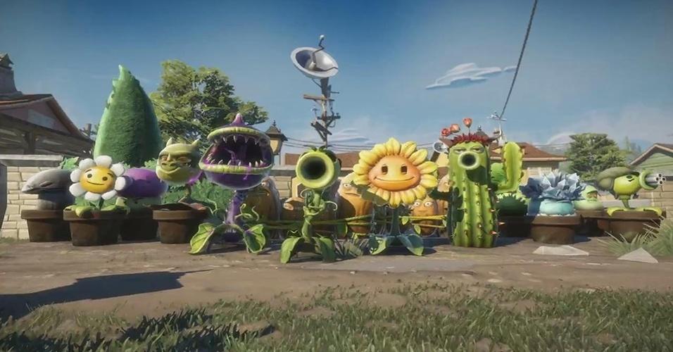 """""""Plants vs. Zombies: Garden Warfare"""" (Windows, X360, XBO) muda as regras da franquia, trazendo mecânicas de tiro em terceira pessoa para a briga de jardim"""