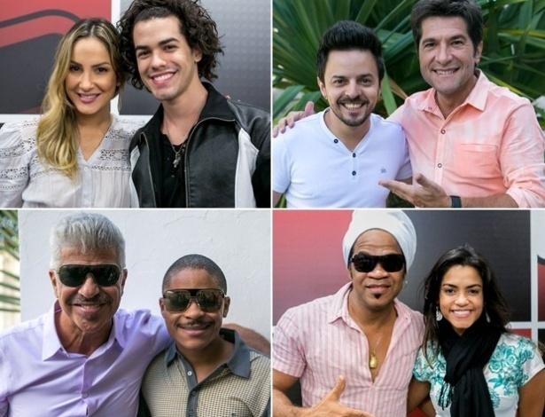 """Claudia Leitte, Daniel, Lulu Santos e Carlinhos Brown defendem seus representantes na final do """"The Voice Brasil"""""""