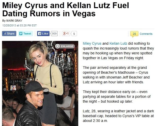 Kellan Lutz e Miley Cyrus