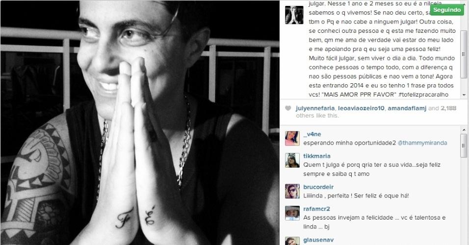 30.dez.2013 - Thammy Miranda assume namoro com assistente de palco