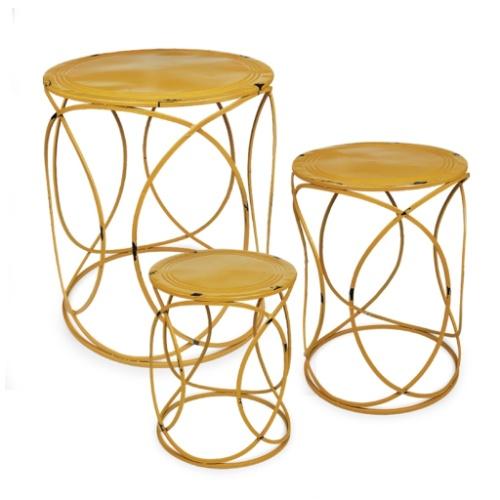 Cor metal madeira e fibra o quarteto que vai decorar a - Mesas redondas pequenas ...