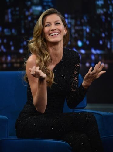6.jan.2013 - Gisele Bundchen participa do talk show norte americano