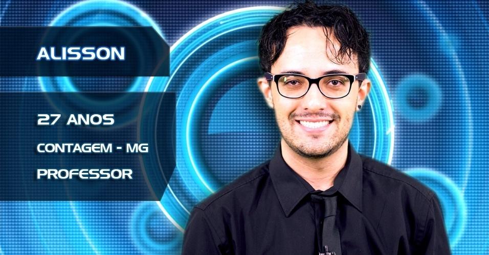 """Alisson tem 27 anos e é professor em Contagem (MG); O """"BBB14"""" estreia na próxima terça, dia 14"""