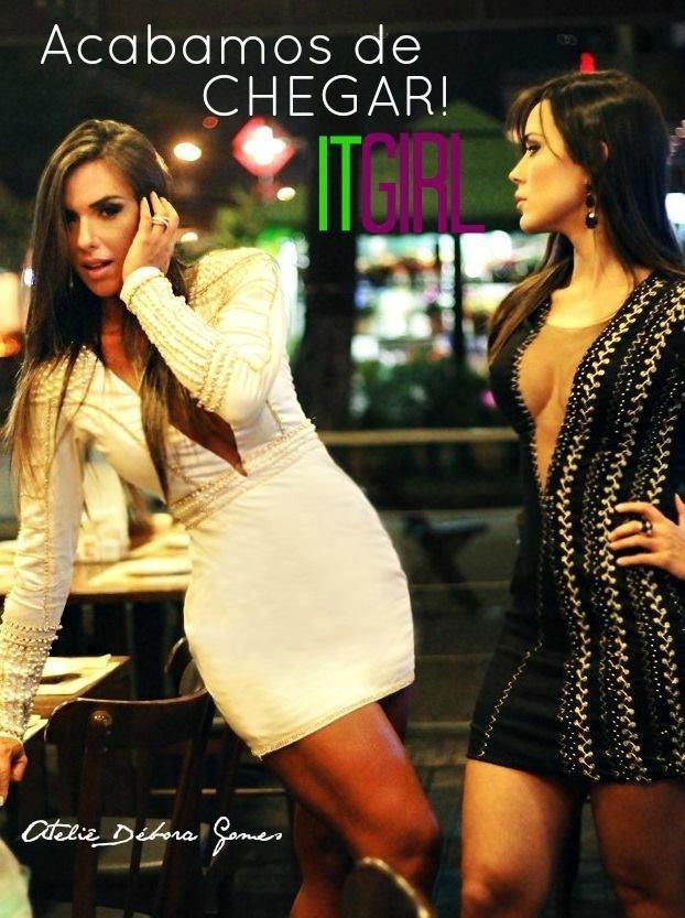 Letícia já fez um ensaio de moda ao lado de Nicole Bahls